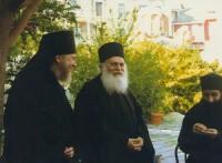 рхимандрит Сильвестр и архимандрит Ефрем, настоятель Афонского Ватопедского монастыря