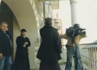 Съемки фильма в Ватопедском монастыре