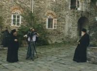 Съемка интервью архимандрита Ефрема