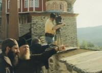 Съемки фильма в Ватопедском монастыре</p> <p>