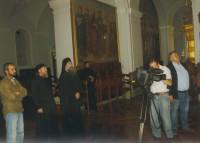 Съемки в соборе Свято-Андреевского скита