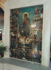 Храм святого Иоанна Русского  на остове Эвбея. Икона св. Иоанна воина