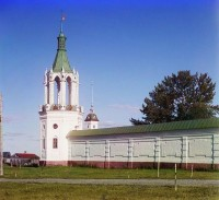 Угловая башня монастырской ограды. 1911 г.