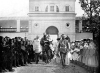 Николай II с семьёй в Спасо-Яковлевском монастыре 22 мая 1913 г