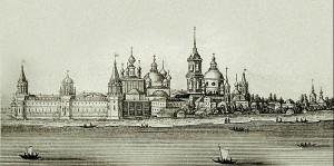 Спасо-Яковлевский монастырь Фрагмент гравюры И.М. Белоногова 1800-1871