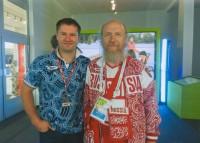 Архимандрит Сильвестр и Алексей Немов, знаменитый российский гимнаст, 4-кратный олимпийский чемпион, 2012 год