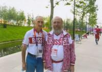 Архимандрит Сильвестр и Олег Зайцев, главный тренер Российской сборной по прыжкам в воду  2012 г.