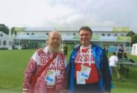 Архимандрит Сильвестр и Алексей Морозов, помощник президента Национального олимпийского комитета России, 2012 г.