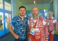 Архимандрит Сильвестр и Алексей Немов, знаменитый российский гимнаст, 4-кратный олимпийский чемпион