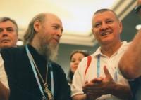 Архимандрит Сильвестр и председатель Федерации борьбы панкратион, 2010 г