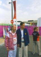 Архимандрит Сильвестр и президент Национального олимпийского комитета России Александр Дмитриевич Жуков. 2012 г.