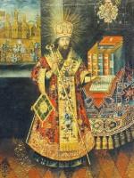 Портрет-икона св. Димитрия Ростовского. Вторая половина XVIII в. Из собрания Национального художественного музея Украины.