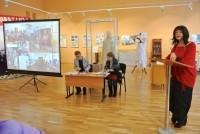 Выступление А. Е. Виденеевой с докладом о Димитриевских храмах на Ярославской земле