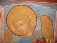 Архангел Гавриил. Деисусный чин иконостаса Зачатиевского храма. Вид после реставрации