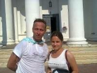Татьяна Роллер с Иваном Охлобыстиным.