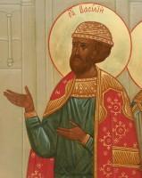 Святой благоверный князь Василько в Соборе Ростовских святых. Икона 2006 г.