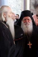 Преосвященный Евстафий епископ Читинский и Забайкальский и архимандрит Алексий, настоятель монастыря Ксенофонт