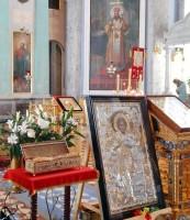 Десница великомученика Георгия Победоносца в Спасо-Яковлевском Димитриевом монастыре. 5 мая 2015 года.