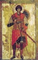 Икона. вкм. Георгия. 1130-1140 гг. Новгород. Государственная Третьяковская галерея, Москва