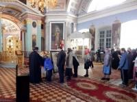 Поклонение деснице великомученика Георгия Победоносца в Спасо-Яковлевском монастыре. 5 мая 2015 года