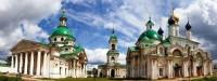 Панорама монастырских храмов: Димитриевский собор, храм святителя Иакова и собор Зачатия св. Анны