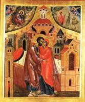 Икона Зачатие святой Анны. XVIII век.