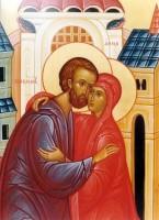 Фрагмент образа Зачатия святой Анны (современная икона).