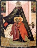 Икона Зачатие святой Анны. Конец XVII века. Частное собрание.