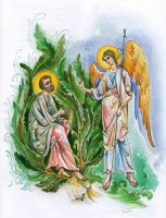 Явление Ангела св. Иоакиму. Рисунок Л. Смирновой в книге «Образ терпения и надежды».