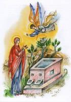Явление Ангела св. Анне. Рисунок Л. Смирновой в книге «Образ терпения и надежды».