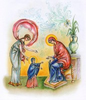 Первые шаги Марии. Рисунок Л. Смирновой в книге «Образ терпения и надежды».