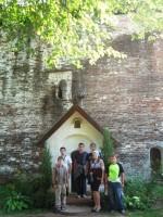 В Борисоглебском монастыре у кельи преподобного Иринарха