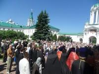 Прибытие крестного хода в Спасо-Яковлевский монастырь