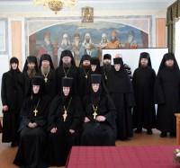 Участники круглого стола, посвященного монастырям и монашеству, в Спасо-Яковлевском монастыре 20 декабря 2017 г.