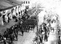 Военные колонны на улицах города Ростова. Начало 1940-х годов.