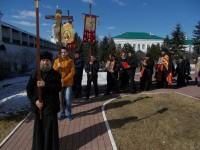 Крестный ход на Светлой седмице в Спасо-Яковлевском монастыре. 2018 год, апрель.