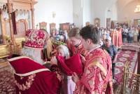 Богослужение митрополита Пантелеимона в Спасо-Яковлевском монастыре 9 августа 2018 года.