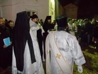 Освящение воды в монастыре в ночь на 19 января 2018 г.