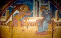 Благовещение Пресвятой Богородицы. Фреска. Сербия, ХIV век