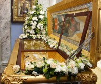 Рака святителя Димитрия Ростовского в Димитриевском соборе Спасо-Яковлевского монастыря