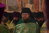 Наместник Спасо-Яковлевского монастыря о. Августин в алтаре Успенского собора.