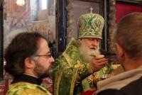 Причастие на Литургии в день празднования Собора Ростово-Ярославских святых.