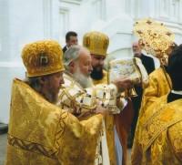 Участие архимандрита Сильвестра в освящении Ярославского Успенского собора 12 сентября 2010 г.