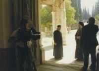 Архимандрит Сильвестр на съемках фильма «Пояс Богородицы» в Ватопедском монастыре на Афоне, 2011 г