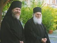 Архимандрит Сильвестр и архимандрит Ефрем, настоятель Афонского Ватопедского монастыря, 2011 г.
