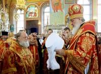 Возведение архиепископа Пантелеимона в сан митрополита. Фото – сентябрь 2011 г.