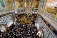 Москва. Храм Христа Спасителя. Встреча Пояса Богородицы. Фото 2011 г.