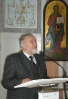 Олег Михайлович Сенин на выставке православных книг для детей, 2012 г.