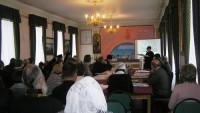 Научные чтения. Выступление Н.В. Грудцыной. Фото 2011 года.