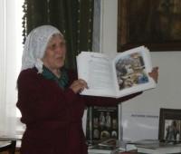 Библиотекарь монастыря К.Е. Квашнина, 2012 г.